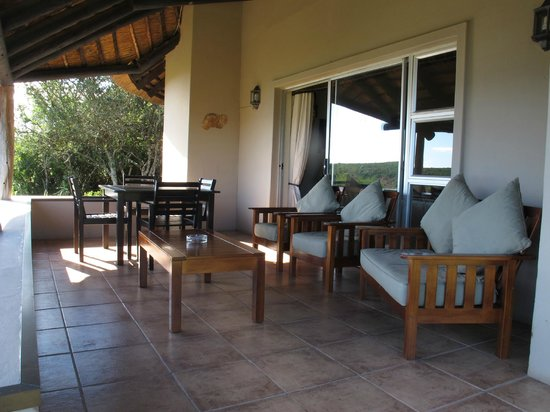 Addo Rest Camp:                   Domkrag balcony