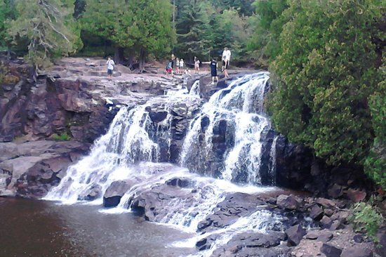 Gooseberry Falls State Park:                   Front view                 