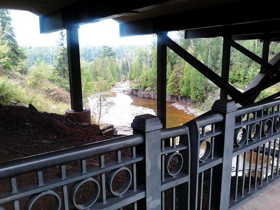 Gooseberry Falls State Park:                   Upper view from the bridge