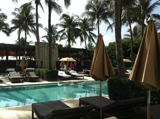 The Setai:                   Pool #3, next to the outdoor bar