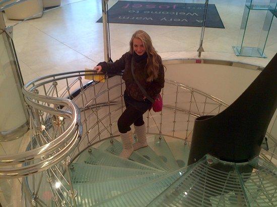 Design Hotel Josef Prague:                   La escalera del hotel