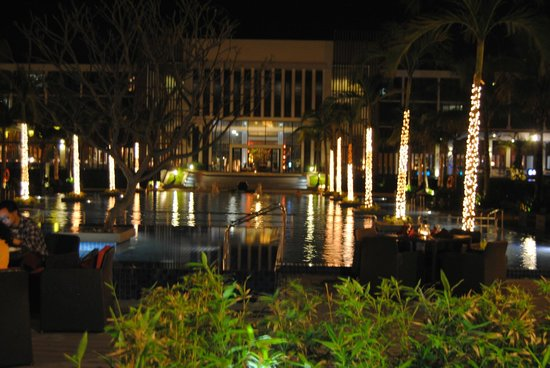 Sunrise Premium Resort Hoi An:                   View of the hotel from the beach restaurant on barbeque night!