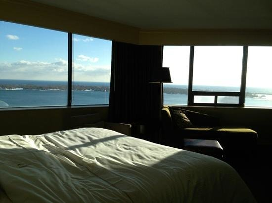 The Westin Harbour Castle:                   beautiful water view from our suite #2719