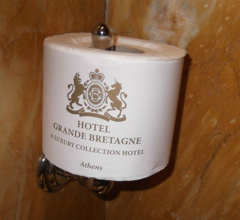 Hotel Grande Bretagne, A Luxury Collection Hotel: Even the loo paper is impressive!