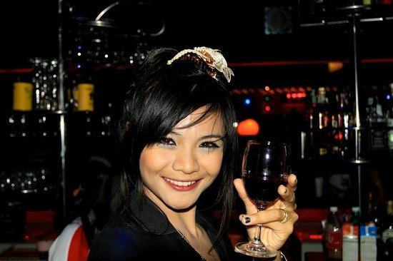 Ao Nang, Thailand: A glass of red