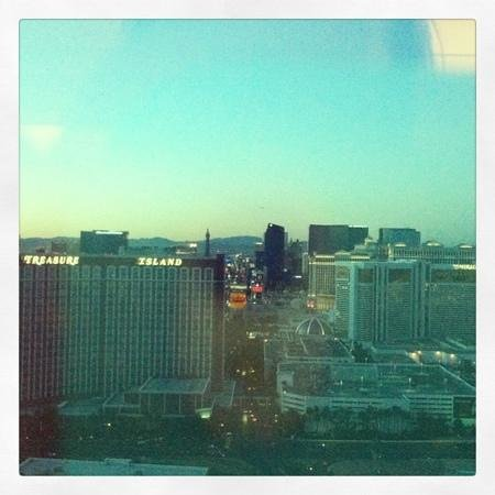 Trump International Hotel Las Vegas:                   view from a corner suite