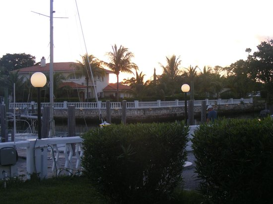 Ocean Reef Yacht Club & Resort:                   Another view from the room to the waterway.