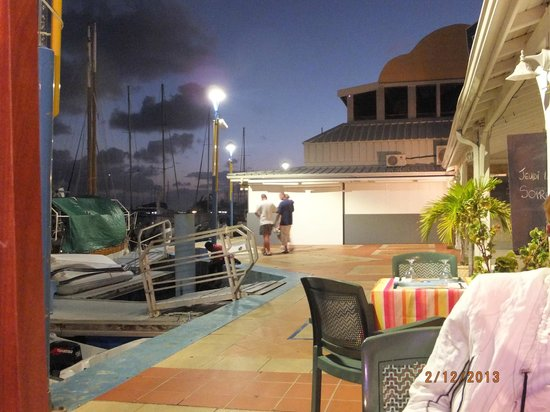 La Petite Auberge Des Isles:                   View of Marina from our table