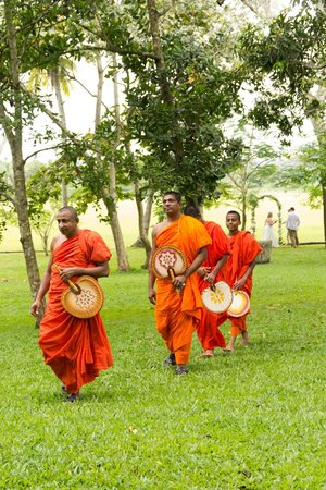Maya:                   the monks who blessed us at the wedding
