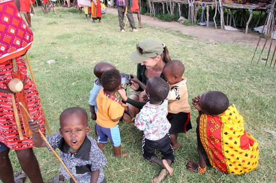 East Africa Adventure Tours and Safaris - Day Tours: In the village of Masai