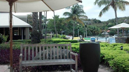 The Westin St. John Resort Villas:                   Looking toward ferry dock