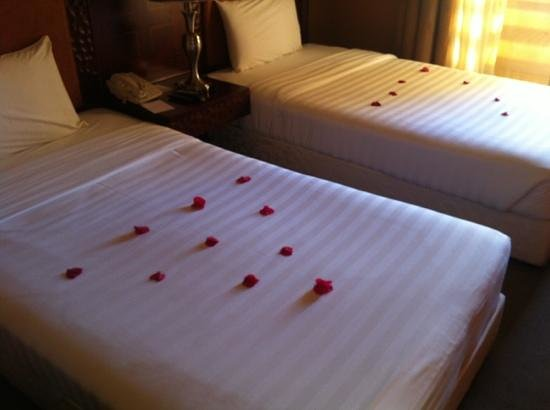 City Hotel:                   nice touch for two men!!