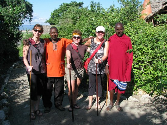 Rift Valley Photographic Lodge:                   setting off to visit the Massaii village near by