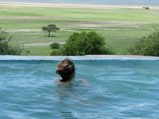 Rift Valley Photographic Lodge:                   view from the pool
