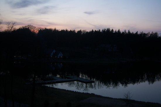 Gut Klostermühle: Blick vom Zimmer bei Sonnenuntergang