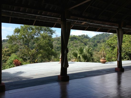 Luna Lodge: yoga platform (where I had the good fortune to teach)