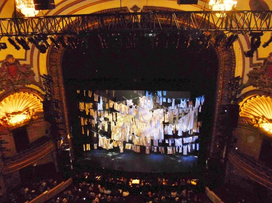New York Balcony View Of Front Row Balcony View Picture Of Annie The Musical New