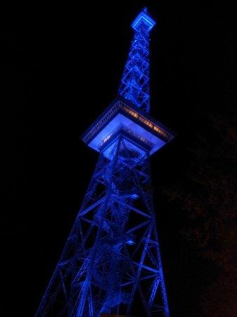 Berliner Funkturm: Funkturm am Abend