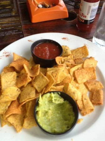 the mexican:                   Chips and Salsa