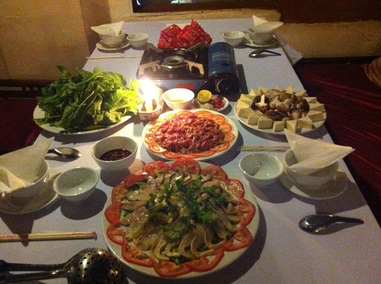 Nature Bar & Grill Restaurant: Hot pot in Nature Bar and Grill