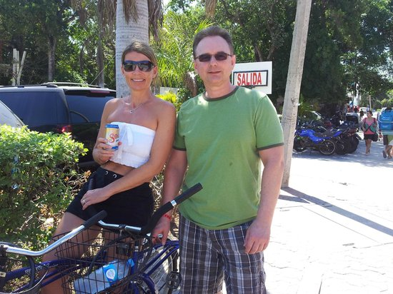 Iberostar Quetzal Playacar: Rode our bikes to Playa del Carmen.