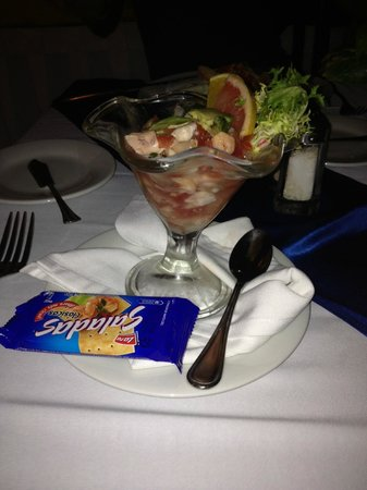 Flamingo Cancun Resort:                                     Shimp ceviche at Albatros