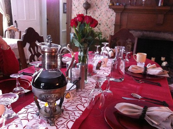Bed and Breakfast at Taylor's Corner:                   Set for Breakfast
