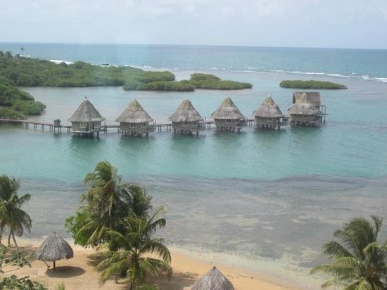 Coral Lodge:                   View from helicopter
