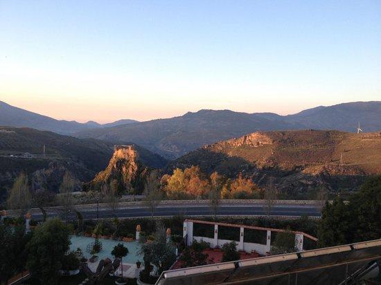 Hotel Castillo Lanjaron:                   Aussicht von der Terrasse
