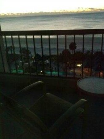 Hilton Head Marriott Resort & Spa:                   View from 7th floor at Sunset.