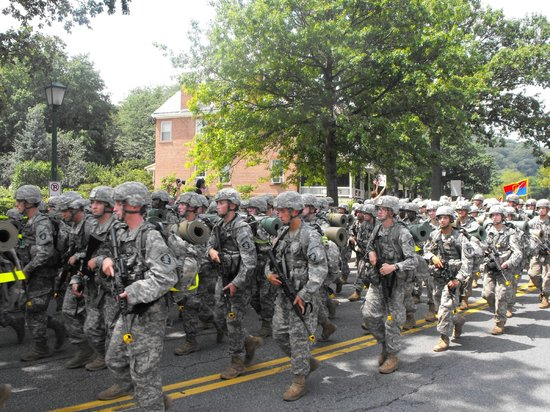 United States Military Academy: march back