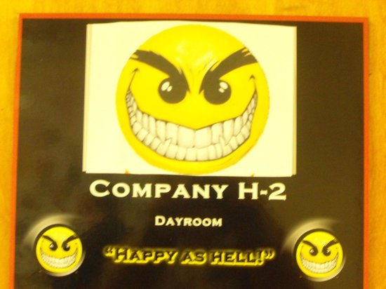 United States Military Academy Visitor Center: company H-2 Happy as Hell