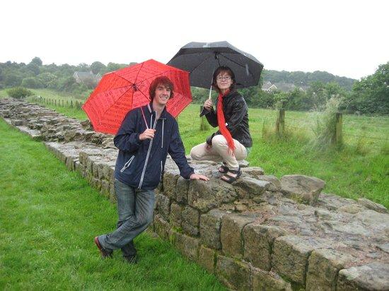 Hadrian's Wall:                   Le mur d'Hadrien par un jour de pluie