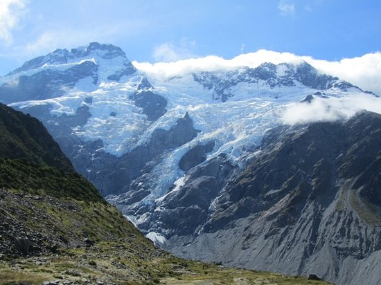 Kea Point Track:                   Mount Sefton from Kea Point. Unfortunately Mount Cook summit was obscured by c