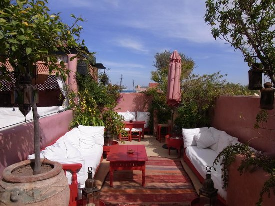 Riad La Terrasse des Oliviers:                   Gorgeous terrace for breakfast/tea
