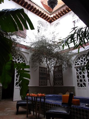 Riad La Terrasse des Oliviers:                   Central courtyard