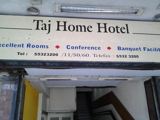 Taj Home Hotel: Thne Billboard Entrance