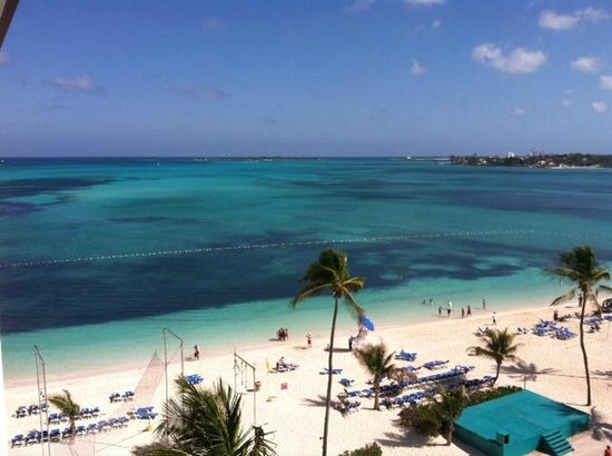 Breezes Resort & Spa Bahamas:                   VIEW OF THE BEACH FROM ROOM #825