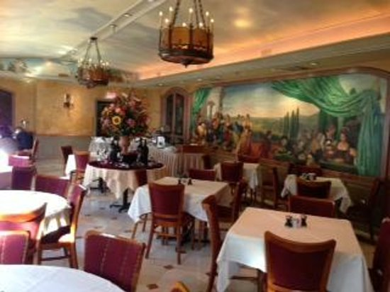 Penn's View Hotel:                   Picture of breakfast buffet and room-see paintings