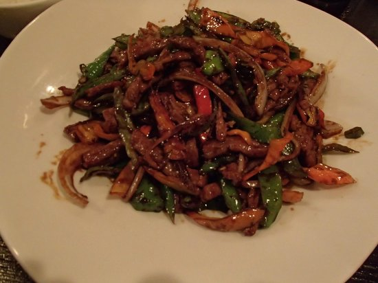 Bamboo Asian Cuisine & Sushi Bar:                   Hot chili beef.