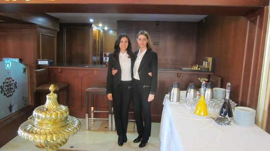 Deluxe Golden Horn Sultanahmet Hotel:                   Ms. Tina and Tamara, the front office staff