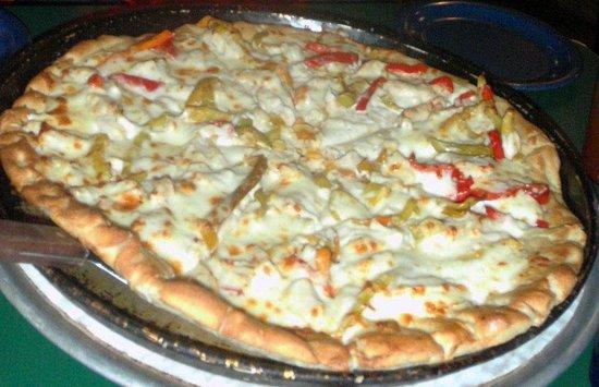 Canaan Valley, WV:                   Chicken Alfredo Pizza