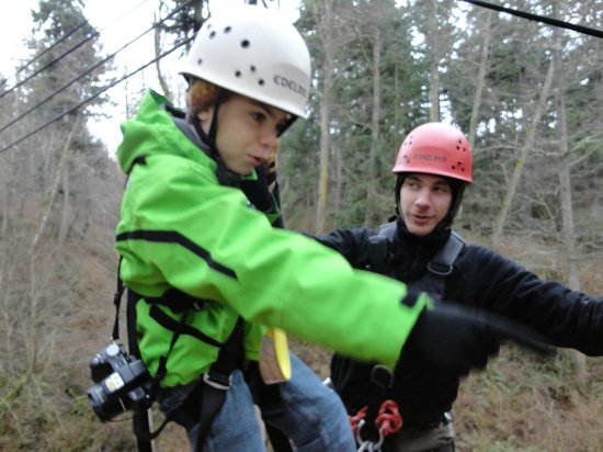 Canopy Tours Northwest :                   Gregory 9 yeas old 69 lbs