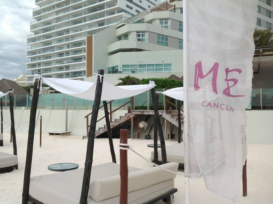 ME Cancun:                                     Bali beds at Beach Club