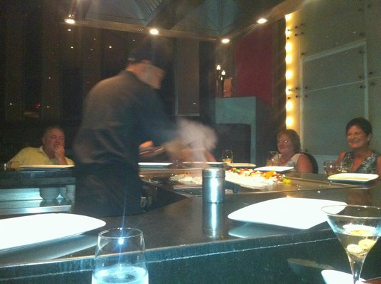 ME Cancun:                                     Teppanyaki Table at Silk