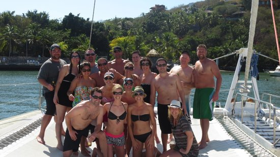 Picante Sailing Catamaran :                   The group having a BLAST on the Picante