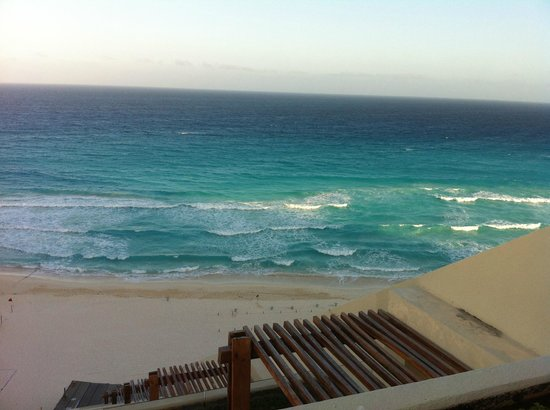 ME Cancun:                                     Ocean view from terrace Loft Suite