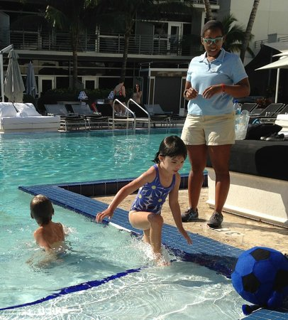 The Ritz-Carlton, South Beach:                   Pool fun with Angie