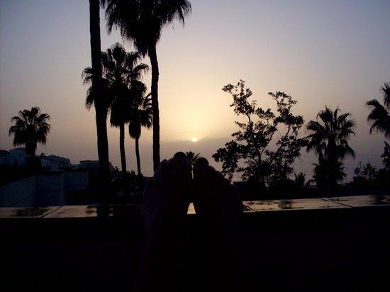 El Sombrero:                   Feet up and enjoying the sunset on the balcony!