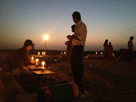 Mirvana Nature Resort and Camp:                   Watching the sunset!